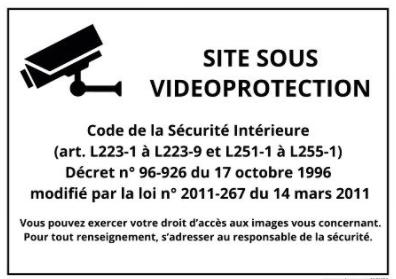 affichage videosurveillance publique