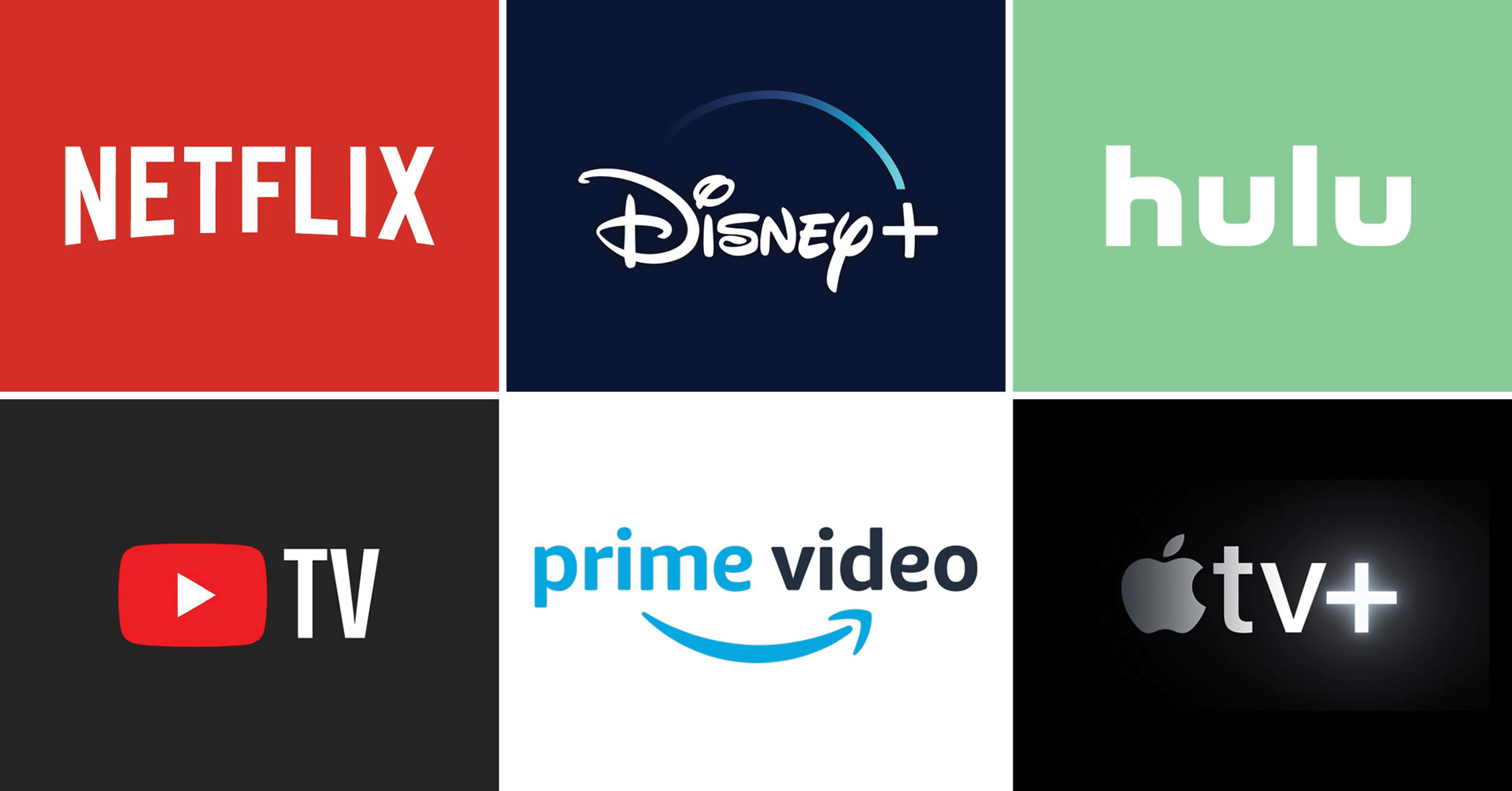 netflix youtube prime disney apple hulu streaming services