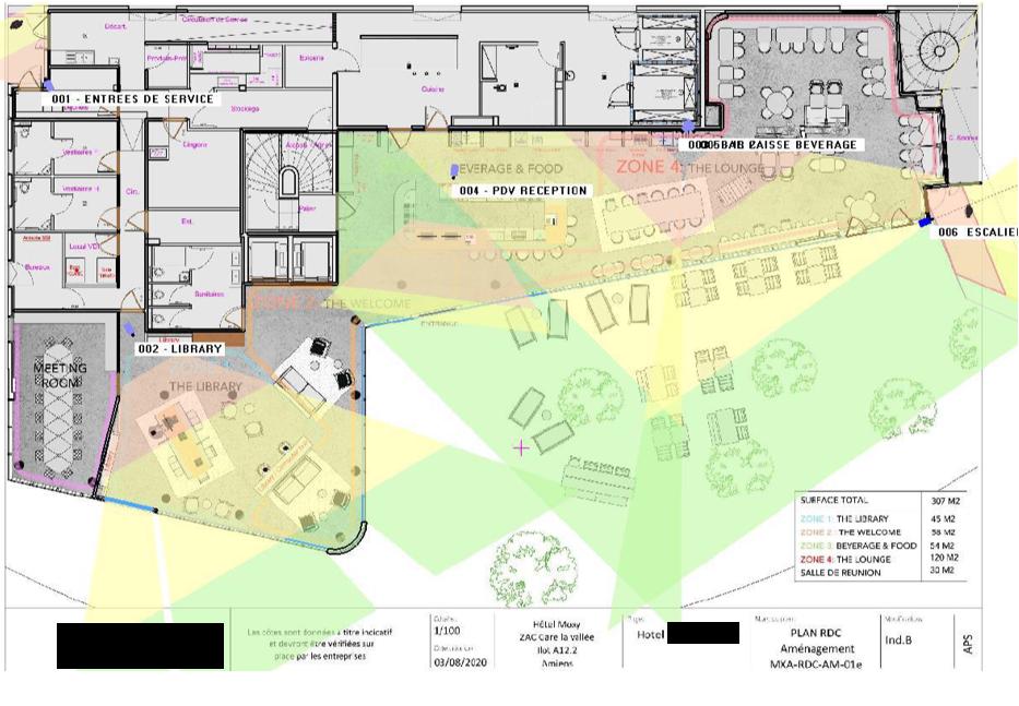 Plan Caméras - Vidéosurveillance Hotel