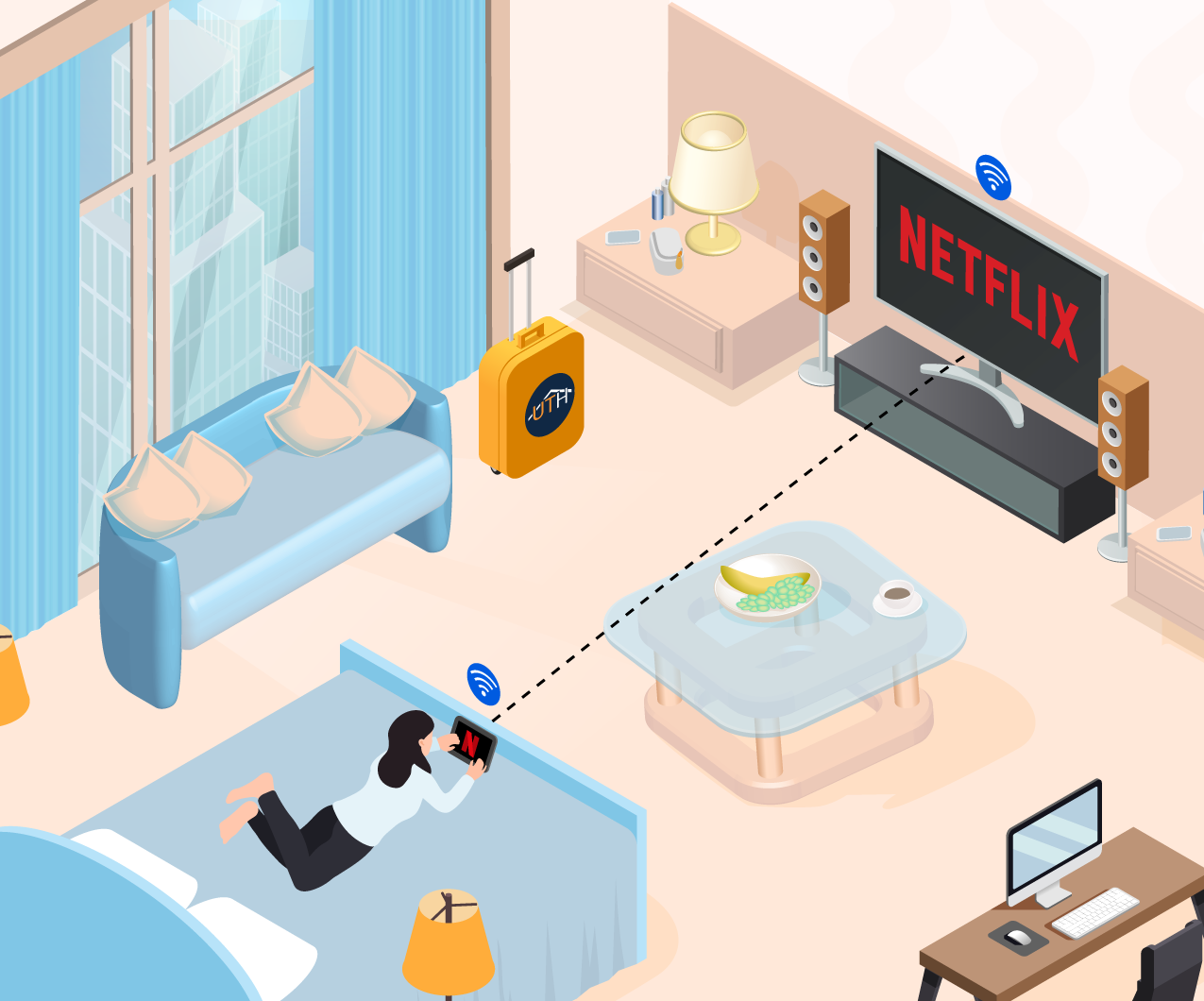 chromecast chambre hotel streaming